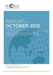 REPORT OCTOBER 2012 - ReCAAP