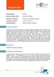 Incident Alert - ReCAAP