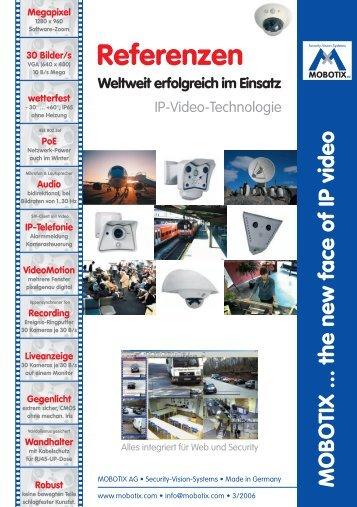 Referenz-Anwendungen / Beispiele - WebCam-Center.de