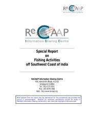Special Report on Fishing Activities off Southwest Coast ... - ReCAAP