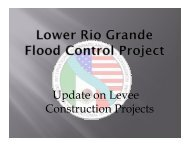 Update on Levee p Construction Projects