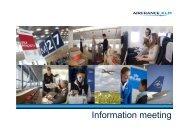 Information meeting - Air France-KLM Finance