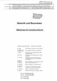 Seismik und Bauwesen Séismes et constructions
