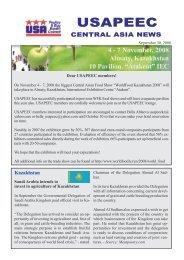 September Newsletter - Central Asia - Usapeec.kz