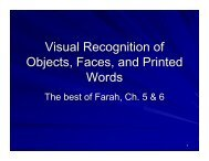 Visual Recognition of Objects, Faces, and Printed ... - Play Psych Mun