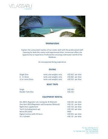 Immersion - Solea Vacances