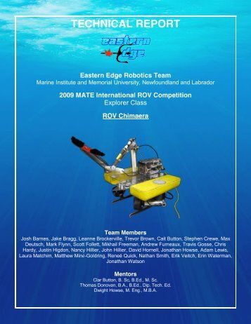 Technical Report - the Marine Advanced Technology Education ...