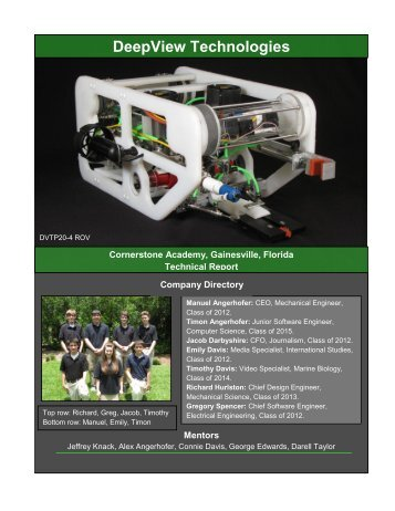 DeepView Technologies - the Marine Advanced Technology ...