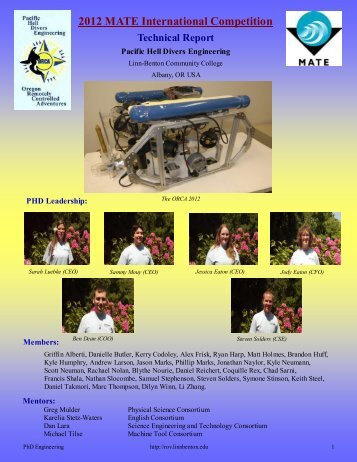 2012 MATE International Competition - the Marine Advanced ...