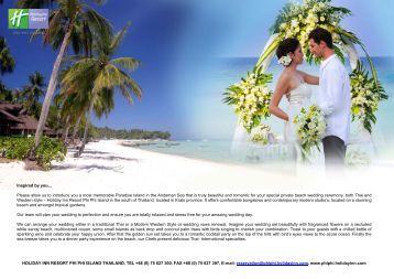 Wedding Package - Holiday Inn Resort