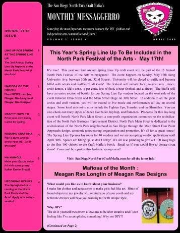 April '09 - color - The San Diego North Park Craft Mafia!!