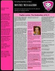 Mafia Newsletter January - The San Diego North Park Craft Mafia!!