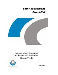 SAFE Self-Assessment checklist - WCO