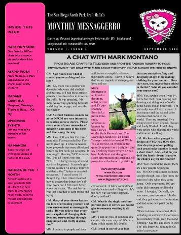 September '08 - color - The San Diego North Park Craft Mafia!!