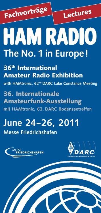 HAM RADIO 2011 | Fachvorträge / Lectures