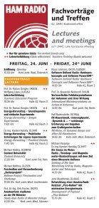HAM RADIO 2011 | Fachvorträge / Lectures - Seite 2