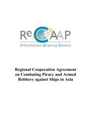 Regional Cooperation Agreement on Combating Piracy ... - ReCAAP