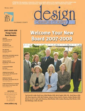 ASID OC Winter 2007 Newsletter - ASID Orange County Chapter