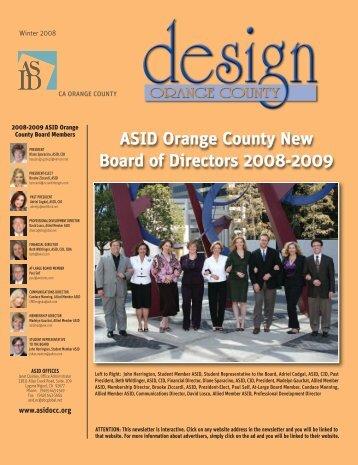 ASID OC Winter 2008 Newsletter