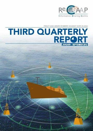 THIRD QUARTERLY REPORT - Maniobra de buques