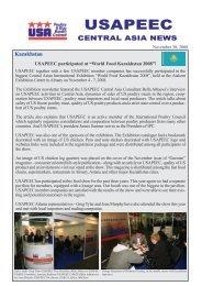 November Newsletter - Central Asia - Usapeec.kz