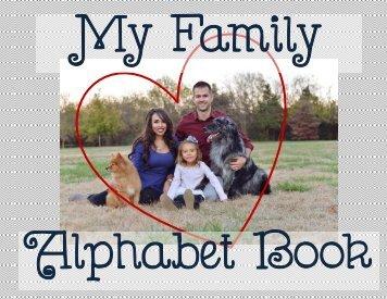 My Family Alphabet Book