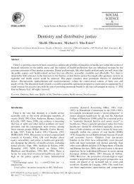 Dentistry and distributive justice - Elders' Link with Dental Education ...