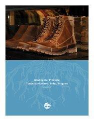 Timberland's Green Index® Program - Timberland Responsibility