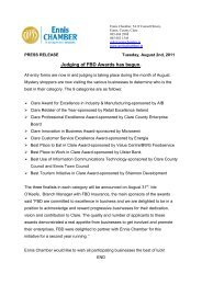 Judging of FBD Awards Press Release Aug 2011 - Ennis Chamber ...