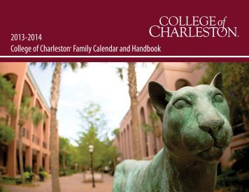 2013-2014 Family Calendar - Orientation - College of Charleston