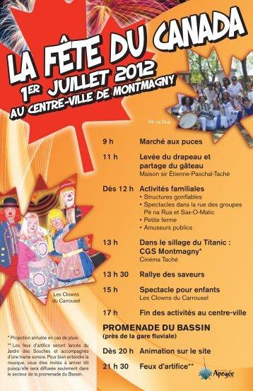 Télécharger la programmation officielle - Ville de Montmagny