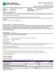 BNP P. CONSERVADOR F.I. 1. Política de inversión y ... - BNP Paribas