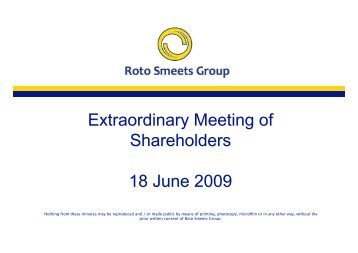 Presentation Extraordinary Shareholders' Meeting 06-18-2009