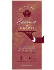 2013 Gourmet & Grapes Program - Kiawah Island Golf Resort