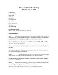 Old Course Committee Meeting Minutes July 10, 2012