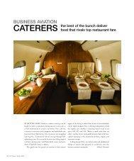 CATERERS - Business Jet Traveler