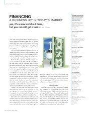 Aircraft Financial Institutions - Business Jet Traveler