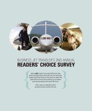 ReadeRs' ChoiCe suRvey - Business Jet Traveler