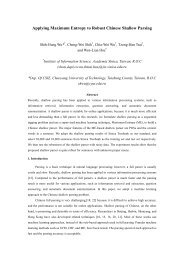 A Machine Learning Architecture for Robust ... - Academia Sinica