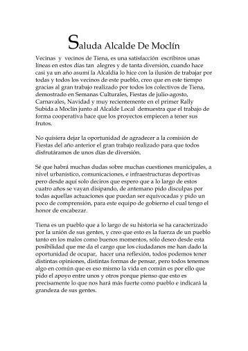 Saluda Alcalde De Moclín - Ayuntamiento de Moclín