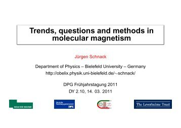 Trends, questions and methods in molecular magnetism