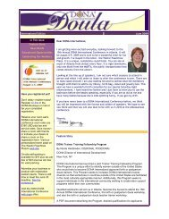 International Edition June 2009 In This Issue Feature - DONA ...