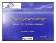La veille gouvernementale