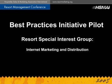 Best Practices Initiative Pilot - hsmai