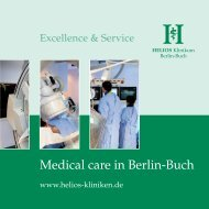 Medical care in Berlin-Buch - HELIOS Kliniken GmbH