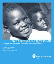Free Education is a Right for Me - Community Law Centre