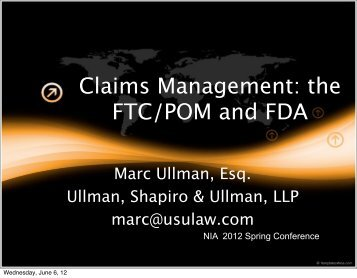 Claims Management - NIA West