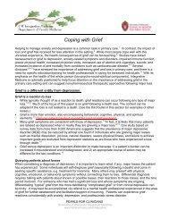 Coping with Grief - UW Family Medicine - University of Wisconsin ...