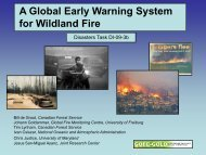 A Global Early Warning System for Wildland Fire - GEO Tasks.org
