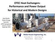 OTEC Heat Exchangers - Hawaii National Marine Renewable ...